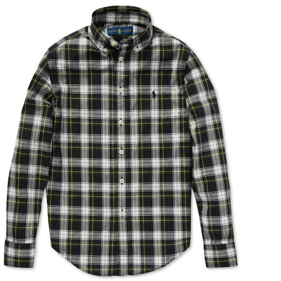 Polo Ralph Lauren Big Boys Cotton Poplin Shirt 👔